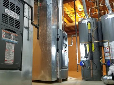 Harmonic Heating & Air Conditioning furnace installation!